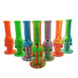 Muchos colores silicona irrompible el hábito de fumar pipa de agua en forma de cráneo con titanio o de vidrio
