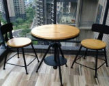 Wood solido Loft Coffee Adjustable Table con Cheap Price