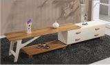 Carrinho moderno da tevê da madeira contínua com função da combinação