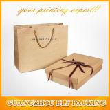 Оптовая торговля коричневый крафт-бумаги магазины подарков мешки (BLF-PB105)