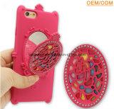 Cas de couverture de téléphone cellulaire de miroir de la fantaisie TPU de constructeur d'accessoires de téléphone mobile pour Samsung J2/J5/J7 avec la fonction de stand