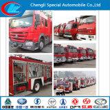 camion dei vigili del fuoco asciutto della gomma piuma della polvere del camion di lotta antincendio 4X2