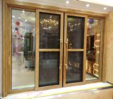 Porte coulissante en aluminium lourde glacée par double (BHA-DS11)