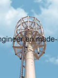 Torretta d'acciaio Palo del segnale di Communicaton di galvanizzazione del TUFFO caldo