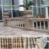 Baluster Китая белых/черноты/красных/желтого цвета/золотистых/Brown мраморный гранита для крылечек/лестниц/балкона