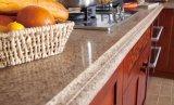 ベストセラーの簡単な台所家具の贅沢な純木の食器棚(zq-018)