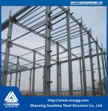 Подгонянное одиночное здание стальной структуры рассказа с стальным лучем Q235