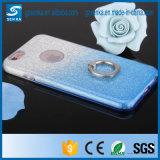 Caso de Kickstand TPU del anillo del polvo del brillo para el borde de Samsung Galaxys7