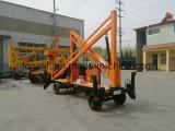 Elevadores articulados hidráulicos móveis automotores do homem do crescimento para a venda