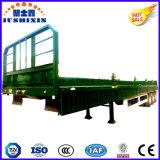 최신 반 트럭 공용품 트레일러 & 콘테이너 옆 널 또는 측벽 또는 담 또는 측벽 또는 찬장 3 차축 대량 화물 트레일러