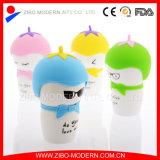 Bone Cina bianco Custom Ceramic Mug con Custom Silicone Lid