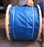 Corde de fil d'acier de Non-Roating Ungalvanized avec la graisse jaune