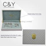 Rectángulo de cuero de costura blanco de lujo para los perfumes