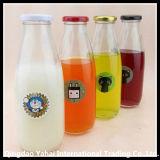 bottiglia per il latte di vetro 1000ml con il coperchio
