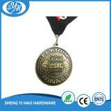 Antike Großhandelsfarbe gravierte Firmenzeichen-Medaille mit Abzuglinie