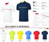 ゴルフTシャツの乾燥した速く短い袖反UVAの夏は服装を遊ばす
