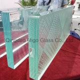 Feuille de verre feuilleté en verre flottant transparent avec film transparent PVB