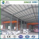 Prefabricados de estructura de acero de la luz de almacén con carga de la grúa