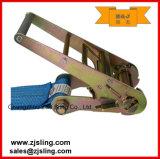 """Trinquete de carga de la correa / de amarre con W / ganchos del alambre de 4 """"x 50"""" Azul"""