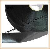 Einzelne /Double-Seite des Drucken-Schlitz-Rand-Polyester-Satins (PS1212-BLK)