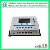 아주 새로운 12V/24V/36V/48vauto 10A/20A/30A/45A/60A LCD 두 배 USB PWM 태양 책임 관제사 (VS-AU 시리즈)