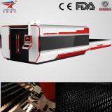 Máquina de corte do laser da fibra do metal de folha do CNC da alta velocidade e do formato de Larege