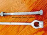 Ancla de tierra apropiada Rod del tornillo de la línea eléctrica