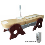 Eléctrico de fichas del expendedora cama de masaje