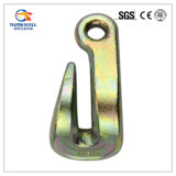 Gancho agarrador de acero de la curva del ojo del laminado del cinc de la forja que azota el gancho de leva