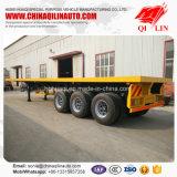 de 20FT 40FT de conteneur de lit plat exportation de remorque semi vers la Tanzanie