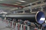 Três camadas de revestimento de polietileno Tubo de aço carbono para gás