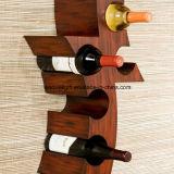 Scultura funzionale e decorativa della parete con gli accessori dipinti a mano del vino del supporto della parete di rivestimento