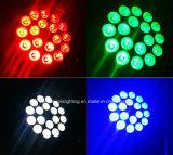 DMX Mini 18x10W RGBW 4 en 1 PAR LED de color de la luz puede Lighitng para DJ, Iluminación discoteca