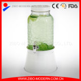 Distributeur d'eau froide en verre personnalisé