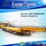 50-80 أطنان على ثقيلة شحن نقل منخفضة سرير [سمي] مقطورة