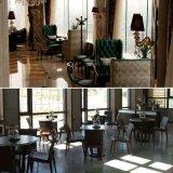 Conjunto 2017 de los muebles del café del pasillo del hotel