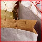 Покрашенные бумажные мешки с ручкой переплетенной бумагой