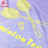 Badminton Jersey da impressão do Tingir-Sublimation do ODM de Healong
