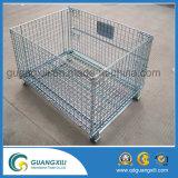 スタック可能および折りたたみ鋼線の網の容器
