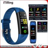 Mode Écran tactile couleur personnalisée OEM Fitness Sport Smart Watch /Bracelet /Bracelet avec moniteur de sommeil, podomètre, Imperméable IP68 et vous détendre à la nage.
