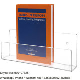 Transparent Acrylic Brochures and Books Display Rack