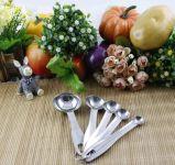 Качество еды варя ложку нержавеющей стали инструментов измеряя