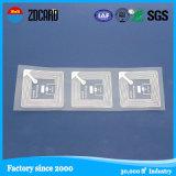 UHF RFID impresión etiqueta de plástico con la impresión