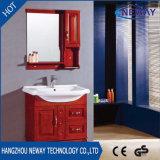 Vanité faite sur commande en bois debout de salle de bains d'étage imperméable à l'eau