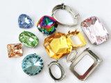 Folha voltar Rhinestone jóias de Cristal