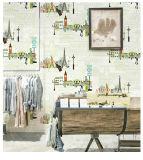 Papel pintado del papel de empapelar de la decoración del dormitorio de los cabritos con el PVC lavable