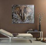 Peinture à l'huile d'éléphant pour la décoration intérieure
