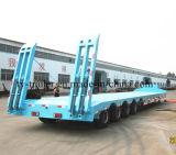 中国の製造業者の3車軸販売のための低いベッドのトラックのトレーラー