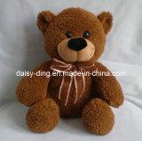 Plush grande urso estar Bow tie com material macio