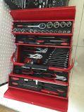 Ensemble d'outils de boîtes en métal rouge 77PCS